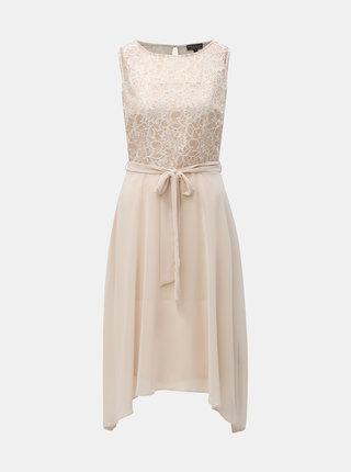 Krémové šaty s čipkou Billie & Blossom