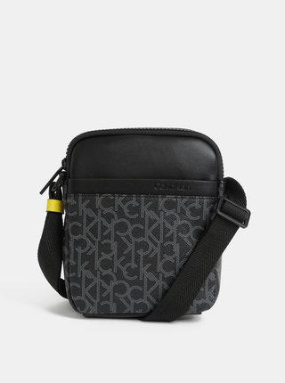 Čierna pánska vzorovaná crossbody taška Calvin Klein Jeans