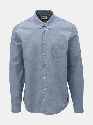 Modrá žíhaná košile s kapsou Blend