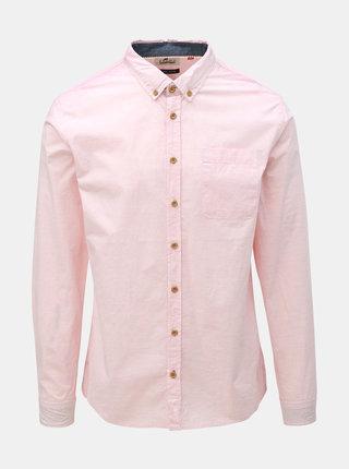 Světle růžová košile s kapsou Blend