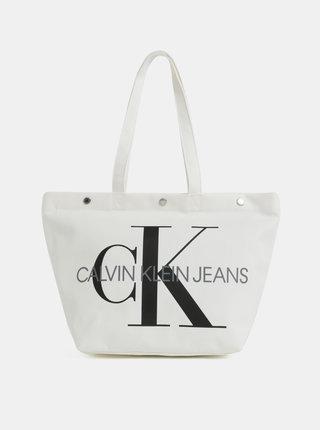 Krémový shopper Calvin Klein Jeans