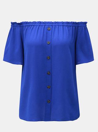 Modrý top s odhalenými ramenami Dorothy Perkins