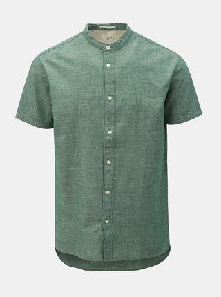 Camasa verde melanj slim fit Selected Homme Nolan