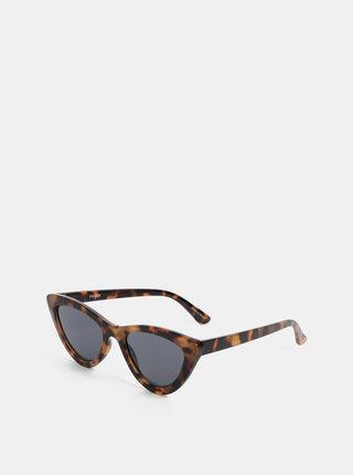Hnedé vzorované slnečné okuliare Pieces Sally