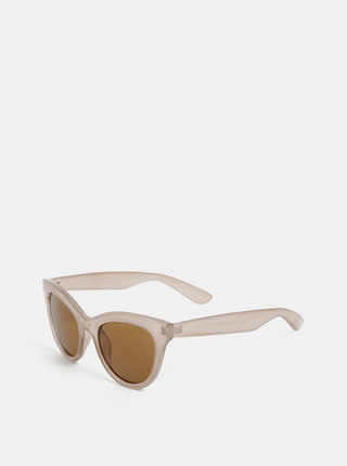 Béžové sluneční brýle Pieces Sonja