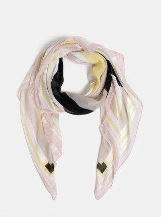 Béžovo-černý šátek Pieces Cia