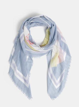 Růžovo-modrý šátek s motivem Pieces Courtney
