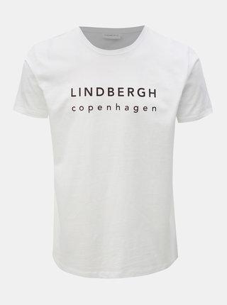 Biele tričko s potlačou Lindbergh