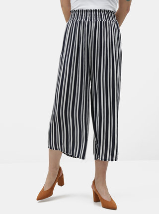 Pantaloni culottes alb-albastru in dungi Dorothy Perkins