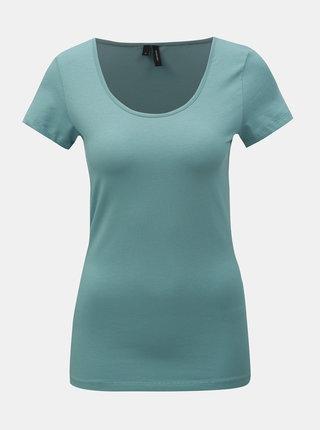 Modré basic tričko VERO MODA Maxi