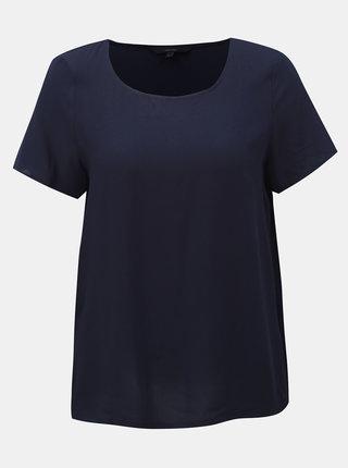 Tricou basic albastru inchis VERO MODA Simply