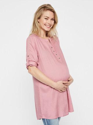 Tunica roz pentru femei insarcinate cu maneci 3/4 Mama.licious Mercy