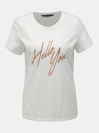 Bílé tričko VERO MODA Sara