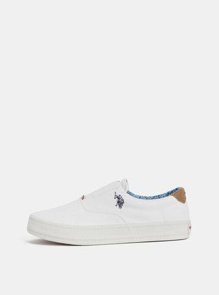 Pantofi slip on barbatesti albi U.S. Polo Assn.