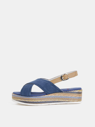 Modré dámske semišové sandále U.S. Polo Assn.
