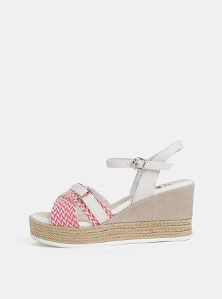 Krémovo–ružové dámske sandále na platforme U.S. Polo Assn.