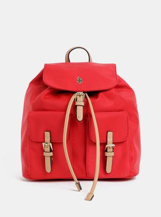 Červený dámsky batoh U.S. Polo Assn.