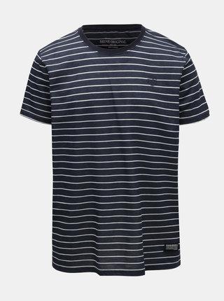 Tmavomodré pruhované tričko Shine Original