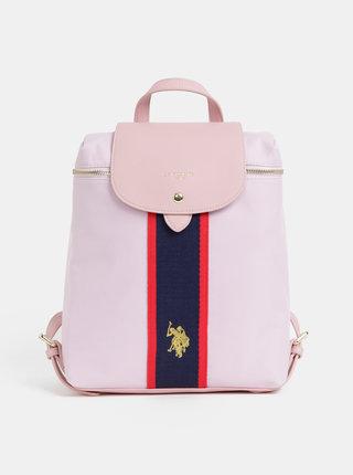 Růžový dámský batoh U.S. Polo Assn.