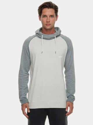 Svetlosivé pánske melírované tričko s kapucňou Ragwear Edison