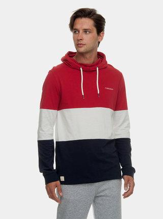 Modro–červené pánske tričko s kapucňou Ragwear Folmer Organic