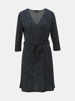 Tmavě modré puntíkované šaty VERO MODA Tia
