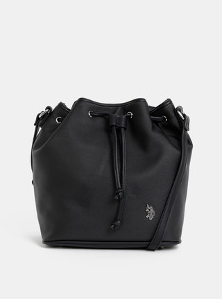 Černá vaková kabelka U.S. Polo Assn.