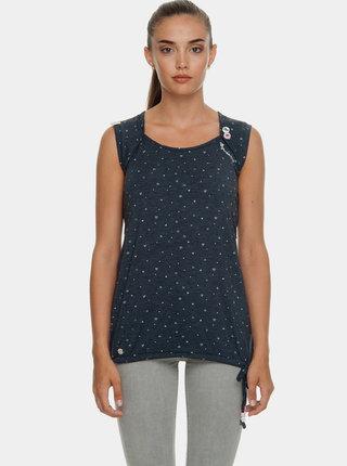 Tmavomodré dámske vzorované tričko Ragwear Mike