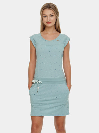 Svetlomodré vzorované šaty so zaväzovaním Ragwear Penelope
