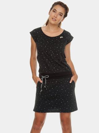 Čierne vzorované šaty so zaväzovaním Ragwear Penelope
