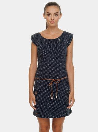 Tmavomodré bodkované šaty Ragwear Tag