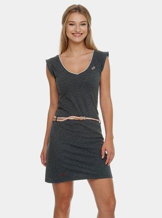 Tmavě šedé šaty s páskem Ragwear Slavka