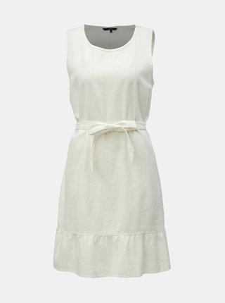 Krémové ľanové šaty VERO MODA Anna