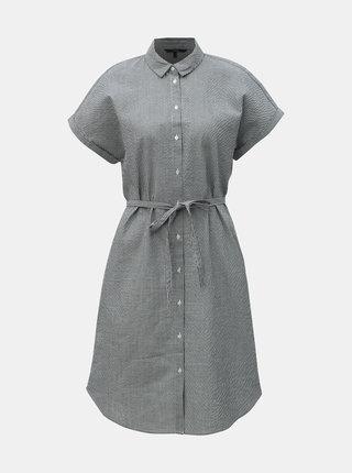 Modré pruhované košeľové šaty VERO MODA Jane