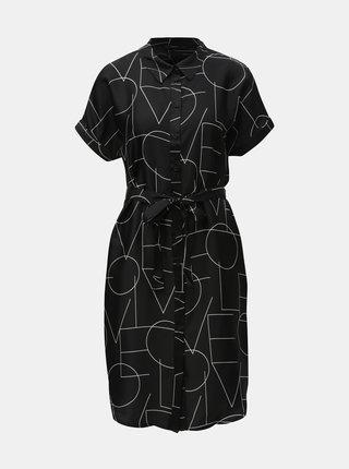 Čierne vzorované košeľové šaty VERO MODA Love