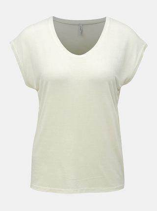 Krémové basic tričko ONLY Wilma