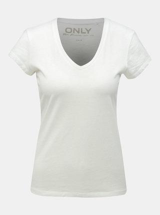 Biele basic tričko ONLY Cate