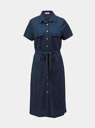 Rochie tip camasa albastru inchis VILA Safina