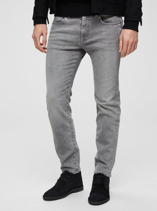 Svetlosivé slim rifle Selected Homme Leon