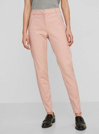 Růžové zkrácené kalhoty VERO MODA Victoria