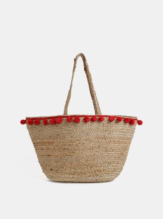 Béžová plážová taška Pieces Becka