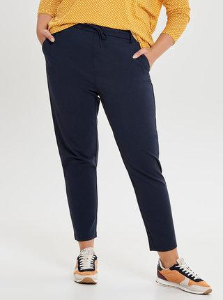 Pantaloni albastru inchis pana la glezne cu talie inalta ONLY CARMAKOMA Gold Trash