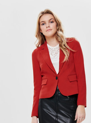 Červené sako s vreckami ONLY Kira