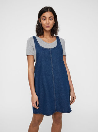 Modré džínové šaty s kapsami Noisy May Wilda