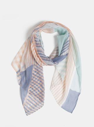 Růžovo-modrý vzorovaný šátek Dorothy Perkins