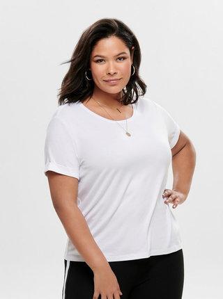 Bílé basic tričko ONLY CARMAKOMA Carma