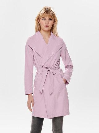 Růžový kabát Jacqueline de Yong Ida