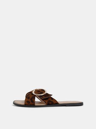 Papuci maro cu motiv leopard Dorothy Perkins