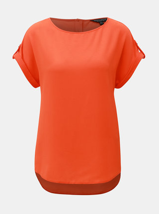 Oranžová volná halenka s knoflíky na zádech Dorothy Perkins