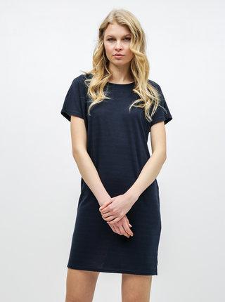 Tmavě modré basic šaty s krátkým rukávem Jacqueline de Yong Camilla
